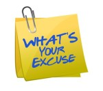 What's your excuse illustration design over white