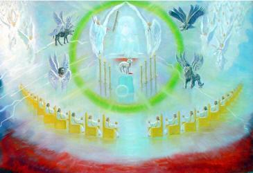 God's throne in heaven