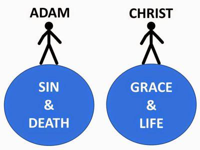 Adam And Christ 400px