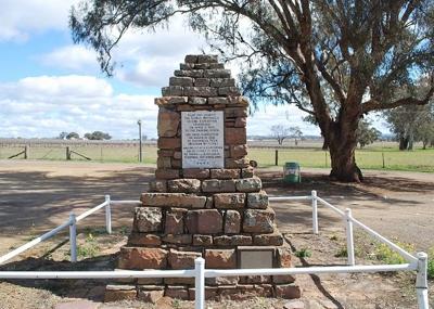 Thomas Mitchell monument - Escort Way Orange 400px