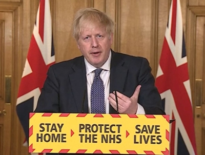 British Prime Minister - Boris Johnson coronavirus announcement