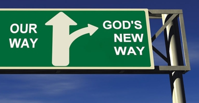 Raod sign - Our way or God's new way