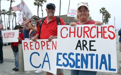 Protest to relax COVID-19 restrictions in California
