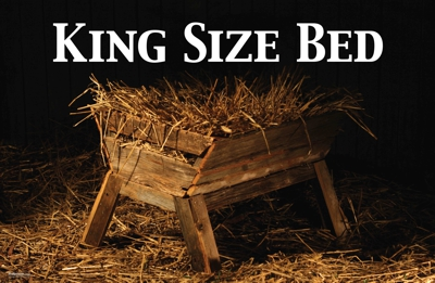 King size bed - Manger with straw