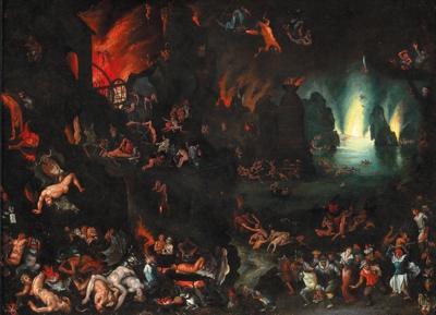 A scene of hell - Jan Brueghel 1568-1625