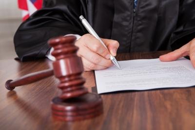 Sentencing judge signs order