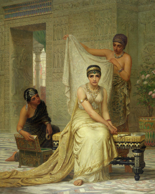 Queen Esther in Ahasuerus' palace at Susa - Edwin Long, 1878