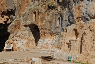 Remains of pagan shrines at Caesarea Philippi