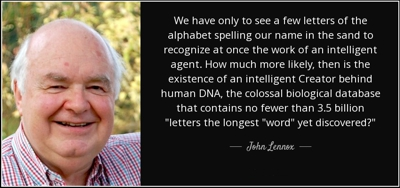John Lennox on the obvious intelligence behind the genetic code