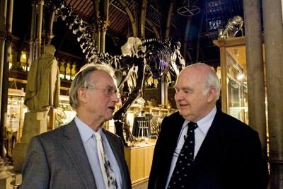 Richard Dawkins and John Lennox before a debate