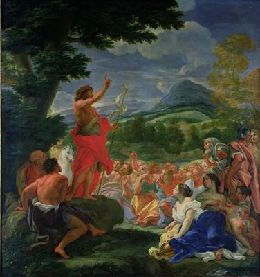 The Preaching of St John the Baptist – Giovanni Battista Gaulli (1639-1709)