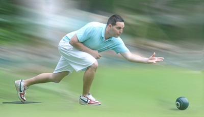 If you change the bias in lawn bowling, the ball curves in the opposite direction and finishes in a different position