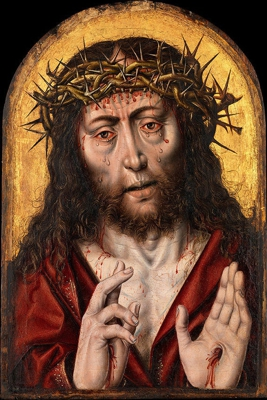 """""""The man of sorrows"""" by Aelbert Bouts 1525"""