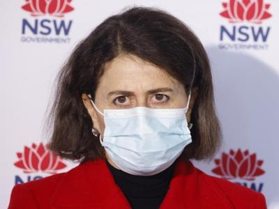 Premier of NSW Australia, Gladys Berejiklian, at daily 11am COVID-19 press conference