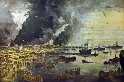 The withdrawal from Dunkirk - painting by Charles Cundall