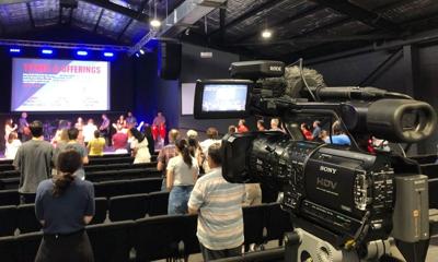 Live streaming a church service