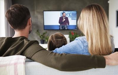 Watching church online