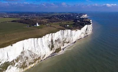 Sea cliffs near Dover, England